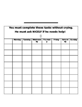 Home reward chart