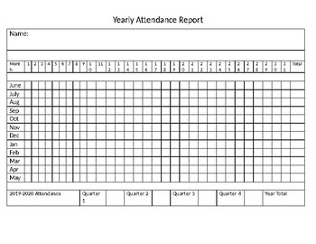 Home school Attendance Form