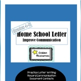 Home to School Letter, Improve Parent Communication, Practice Letter Writing!
