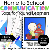 Home to School Communication Log and Social Story for Preschool and Kindergarten