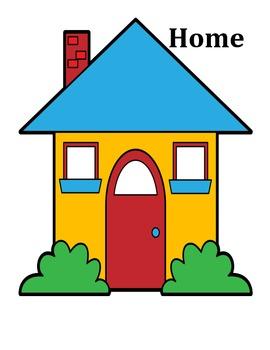 Home vs. School Sort File Folder
