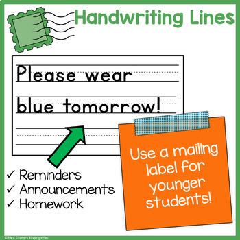 Home/School Communication Binder:  Agenda Calendar with Boxes