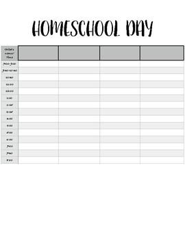 HomeSchool Day Planner