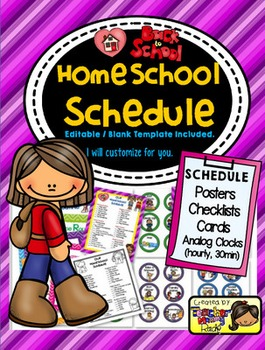 HomeSchool Schedule Poster, Cards and more