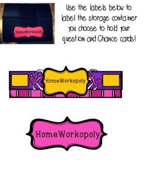 HomeWorkopoly The Complete Digital Set!