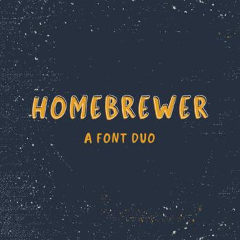Homebrewer Sans + Outline Font Duo