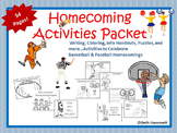 Homecoming Activities Packet for Pre-K-6