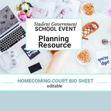 Homecoming Court Bio Sheet