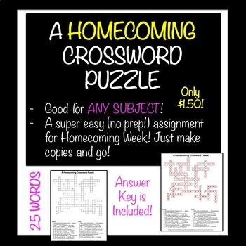 Homecoming Crossword Puzzle