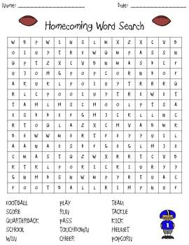 Astonishing Football Word Search Worksheets Teaching Resources Tpt Interior Design Ideas Helimdqseriescom
