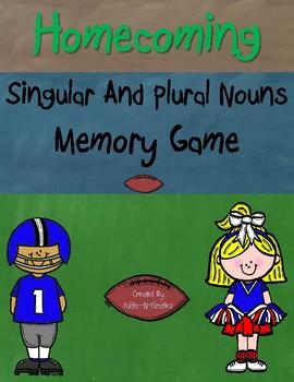 Homecoming Singular and Plural Noun Memory Game