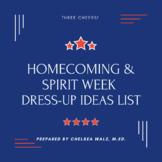 Homecoming/Spirit Week Dress Up Days Idea List