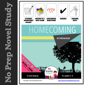Homecoming by Cynthia Voigt Novel Study