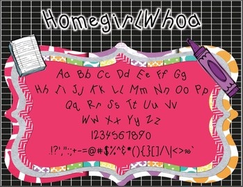 Homegirl Whoa (Personal and Commercial Use Font)