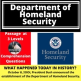 Homeland Security Differentiated Reading Passage October