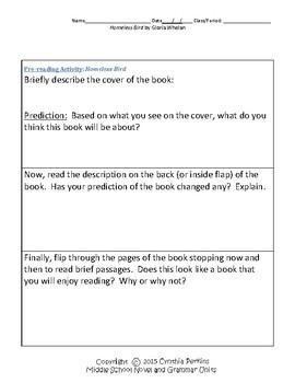 Homeless Bird Literature and Grammar Unit