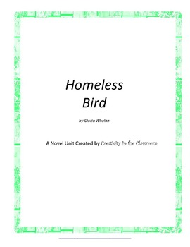 Homeless Bird Novel Unit Plus Grammar