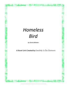 Homeless Bird Novel Unit Plus Grammar