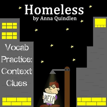 """Homeless"" by Anna Quindlen - Vocabulary Practice: Context Clues"