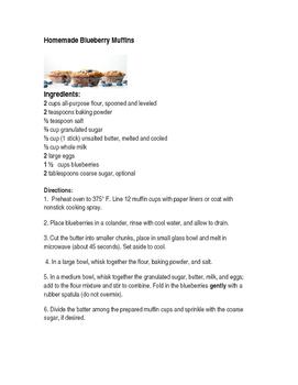 Homemade Blueberry Muffin Recipe