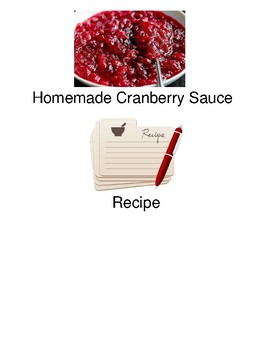 Homemade Cranberry Sauce - adapted recipe with visuals picture supported text