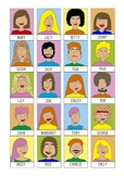 Homemade Guess Who with descriptions