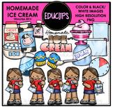 Homemade Ice Cream Clip Art Bundle {Educlips Clipart}