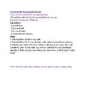 Homemade Playdough Recipe FREE!