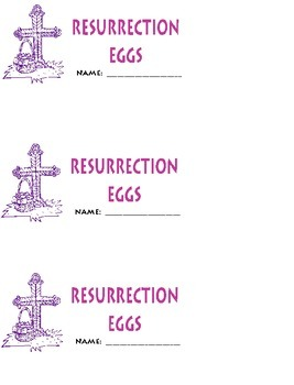 Homemade Resurrection Eggs FREE printables
