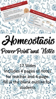 Homeostasis PowerPoint and Notes