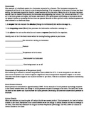 Homeostasis Practice Worksheet