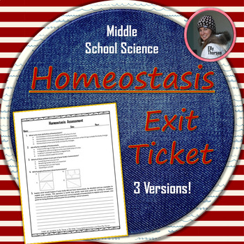 Homeostasis Assessment: Quiz and Exit Ticket