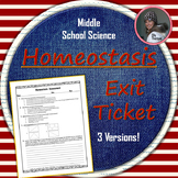 Homeostasis Assessment: Exit Ticket or Quiz