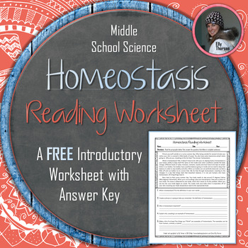 Homeostasis Reading Worksheet FREEBIE: Introduction to Homeostasis
