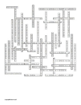 Homeostasis Vocabulary Crossword for Zoology
