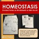 Homeostasis Worksheets or Minibook for Interactive Notebook with Key
