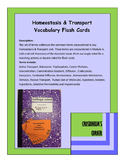 Homeostasis and Transport Vocab Cards - Keystone Biology