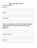 Homeostasis quiz/ worksheet