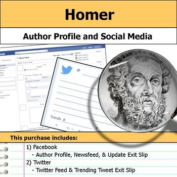 Homer - Author Study - Profile and Social Media