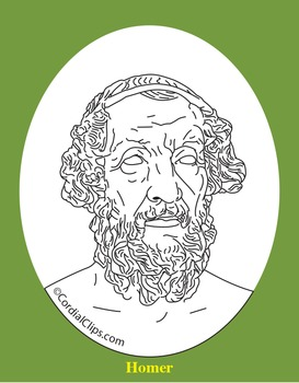 Homer Clip Art, Coloring Page, or Mini-Poster