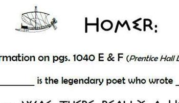 Homer:  Epic Poet/  Informative Information Reading Guide