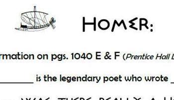 Homer:  Epic Poet/  Informative Information Reading Guide