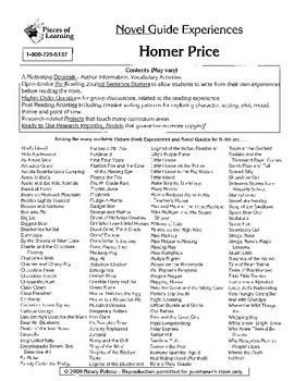 Homer Price Literature Guide