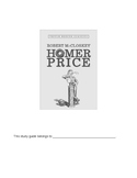 Homer Price Novel Study