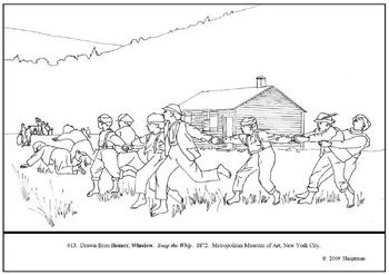 Homer.  Snap the Whip.  Coloring page and lesson plan ideas