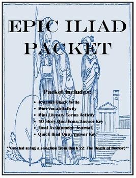 Homer's Book 22 Iliad (Fagles Translation) Reading Activities