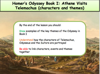 Homer's Odyssey – Book I: Athene visits Telemachus: characters & themes