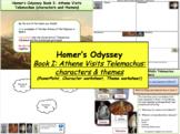 Homer's Odyssey – Book I: Athene visits Telemachus: charac