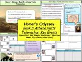 Homer's Odyssey – Book I: Athene visits Telemachus: key events