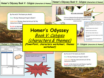 Homer's Odyssey- Book V: Calypso (characters & themes)